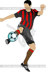Fußballspieler - Vektor-Design