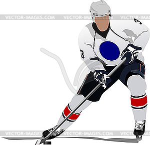 Eishockey-Spieler - Vector-Clipart EPS