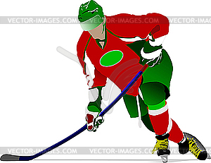 Eishockey-Spieler - Vektor-Illustration
