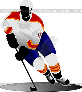 Eishockey-Spieler - Vector-Clipart / Vektor-Bild