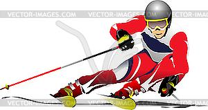 Skifahrer - Royalty-Free Vektor-Clipart
