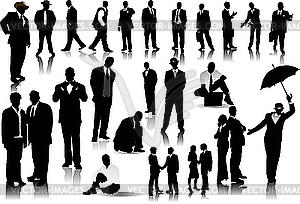 Silhouetten der Mitarbeiter - Vektor-Illustration