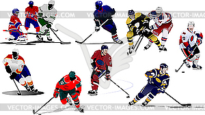 Eishockey-Spieler. - Vektor-Clipart / Vektorgrafik