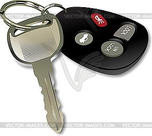 Autoschlüssel mit Fernbedienung - vektorisiertes Bild