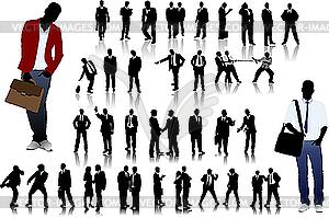 Silhouetten von Büro-Menschen - Vector-Clipart EPS