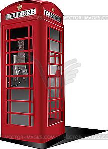 Londoner rote öffentlichen Telefonzelle - Stock-Clipart