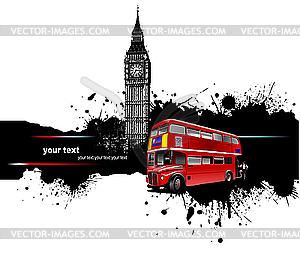 Grunge-Poster - London - Vektor-Design