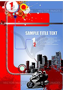 Grunge-Stil Deckung für städtische Broschüre - Vektor-Clipart / Vektorgrafik