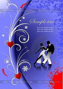 Valentinstagkarte - Vector-Design