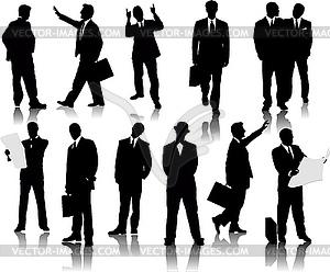 Business-Menschen, Silhouetten - Vektor-Klipart