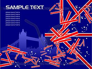 Großbritannien Bildhintergrund - Stock Vektor-Clipart