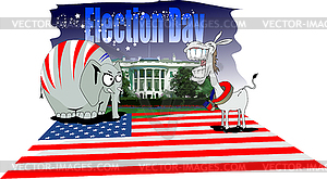 Wahltag in Amerika - Vector-Clipart EPS