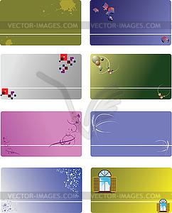 Set 8 vorlagen f r visitenkarten royalty free vektor - Visitenkarten kostenlos download ...