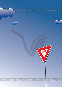 Vorfahrt. Verkehr Verkehrsschild Symbol - Stock Vektor-Clipart