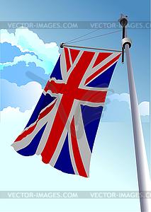 Stilvolle winkenden Flagge Vereinigtes Königreich - Vektor-Clipart / Vektor-Bild