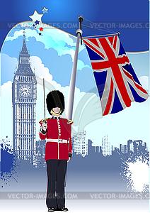 Hintergrund des Vereinigten Königreichs. - Vektorgrafik-Design