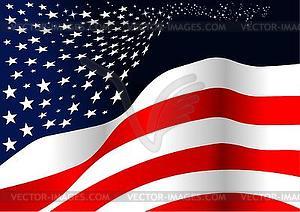 Stilisierte amerikanische Flagge - Vektor-Clipart EPS