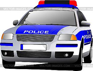 Полицейская машина - рисунок в векторном формате