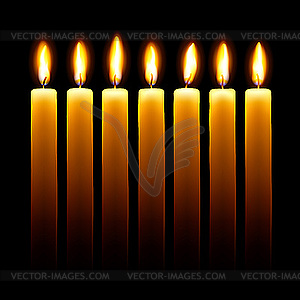 Kerzen - vektorisiertes Bild