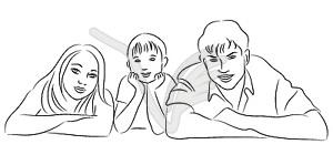 Familie - Vektorgrafik