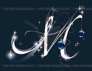 Weihnachtsbuchstabe M - Vektor-Klipart