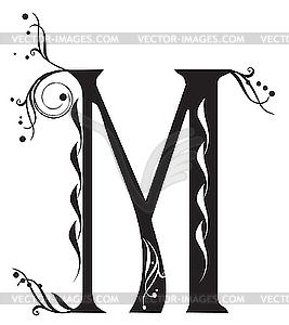 decorative letter m vector decorative letter m clipart