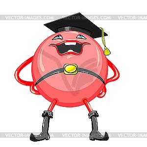 Lustiger lächelnder roter Ball Jurist - vektorisiertes Design