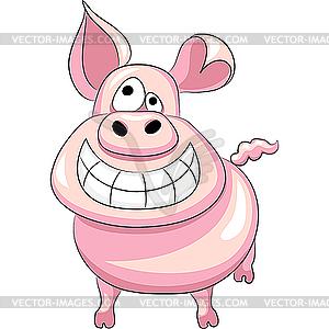 Lustiges Schwein - vektorisiertes Clip-Art