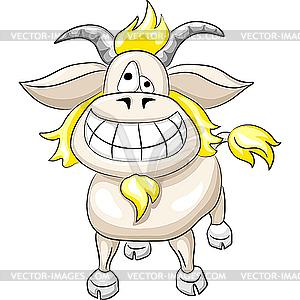 Lustiger lächelnder Ziegebock - Clipart-Bild