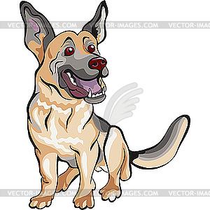 Dog Deutscher Schäferhund - Vector-Clipart EPS