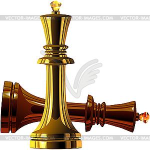 Schach-Könige - vektorisiertes Bild