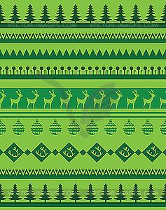 Grüner Hintergrund mit Hirschen und Tannen - Vektor-Clipart / Vektor-Bild
