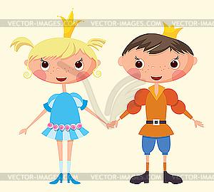 Prinz und Prinzessin - Vector-Bild