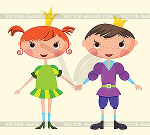 Prinz und Prinzessin - Vektorgrafik