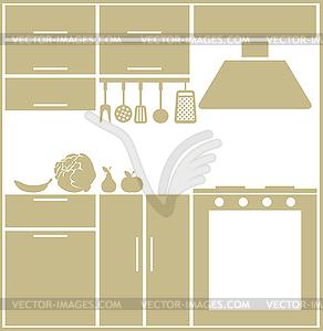 Küche Silhouette - Vector-Clipart / Vektor-Bild