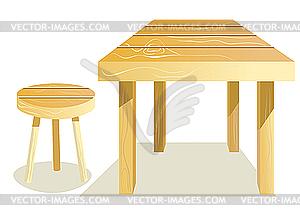 tisch und stuhl vector illustration. Black Bedroom Furniture Sets. Home Design Ideas