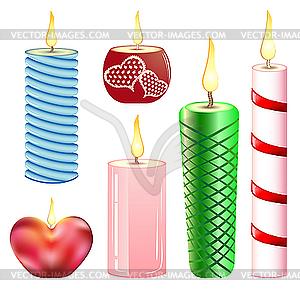 Kerzen - vektorisierte Abbildung