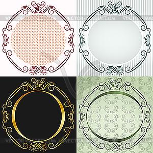 Runde Rahmen im Vintage-Stil - Vektor-Bild