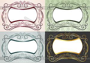 Die horizontalen Rahmen im antiken Stil - Vector-Clipart EPS