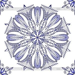 Schöne blaue Muster nahtlose - farbige Vektorgrafik
