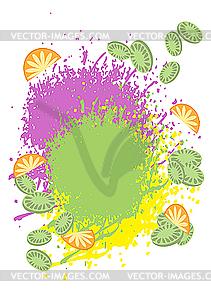 Hintergrund von tropischen Früchten - Vektor-Bild