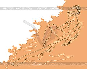 Mädchen am Strand - Vector-Bild