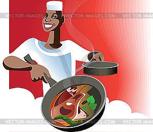 Arabische Küche - Vector-Clipart EPS