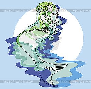 Meerjungfrau - Vektor-Clipart