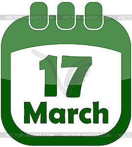 Tag 17. März in einem Kalender - Vektor-Design