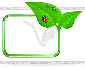 Marienkäfer auf grünem Blatt - Vektor-Illustration