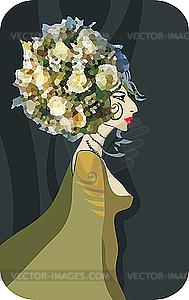 Blumenkönigin - vektorisiertes Bild