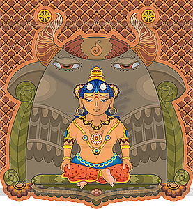 Indische Göttin - Vektorgrafik