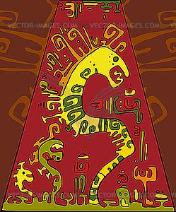 Abstrakter Hintergrund Snake - Vector-Bild