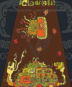 Ethnische Snail Tortoise Hintergrund - Vector Clip Art